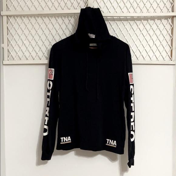 TNA Dolby Stereo Sleeve Hoodie Shirt Black
